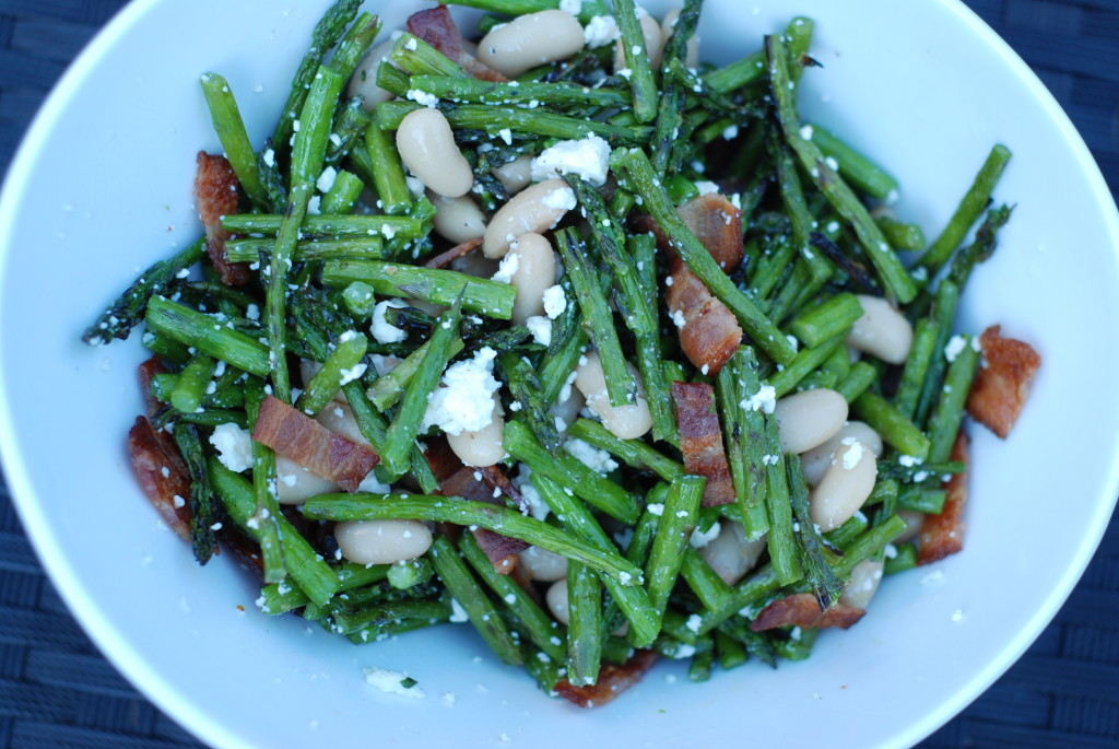 Warm Asparagus and White Bean Salad